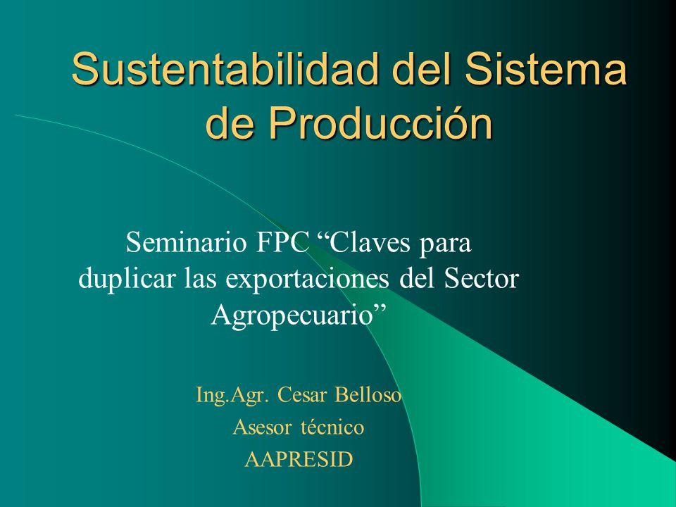 Sustentabilidad del Sistema de Producción