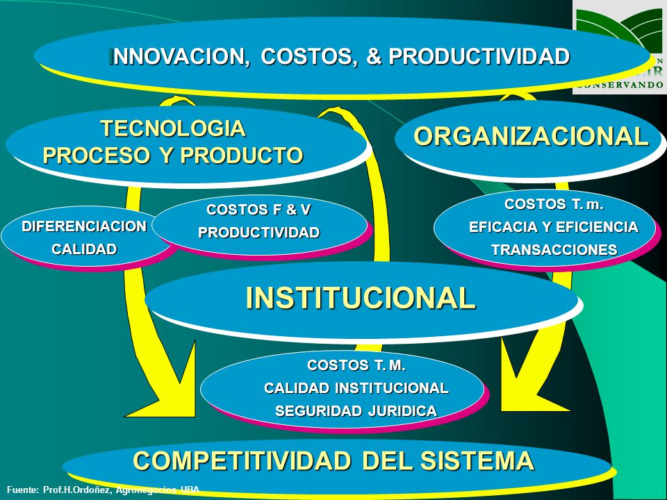 INSTITUCIONAL ORGANIZACIONAL COMPETITIVIDAD DEL SISTEMA