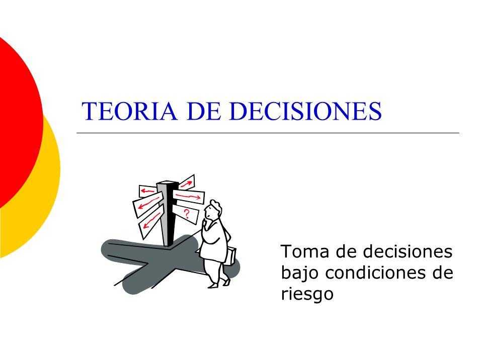 Toma de decisiones bajo condiciones de riesgo