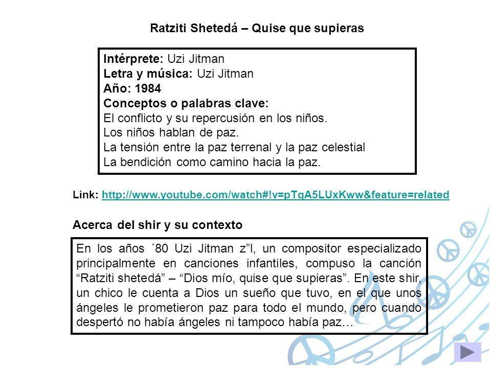 Ratziti Shetedá – Quise que supieras