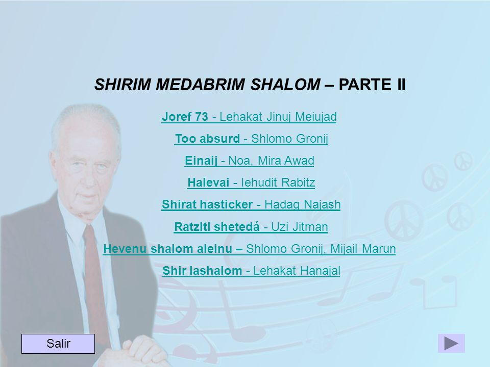 SHIRIM MEDABRIM SHALOM – PARTE II Joref 73 - Lehakat Jinuj Meiujad