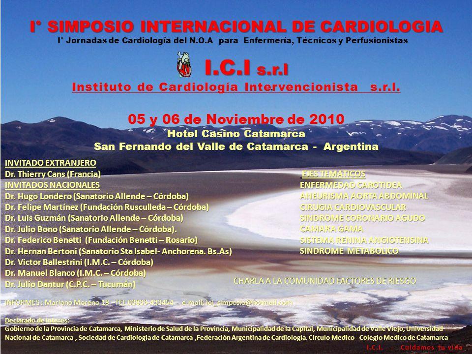 @ I° SIMPOSIO INTERNACIONAL DE CARDIOLOGIA