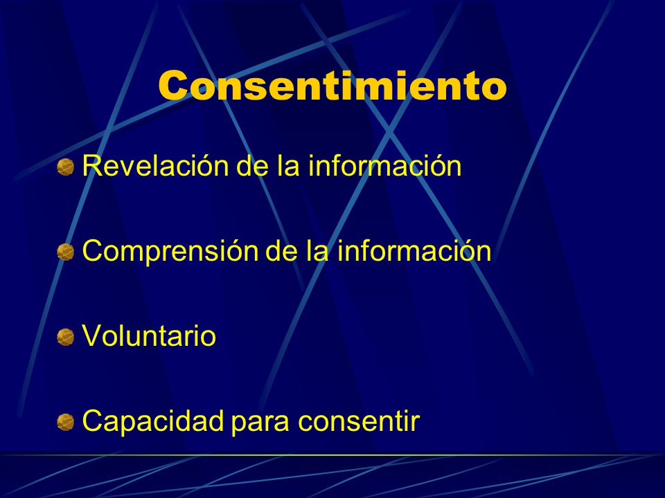 Consentimiento Revelación de la información