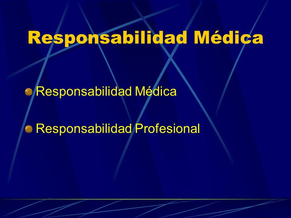 Responsabilidad Médica