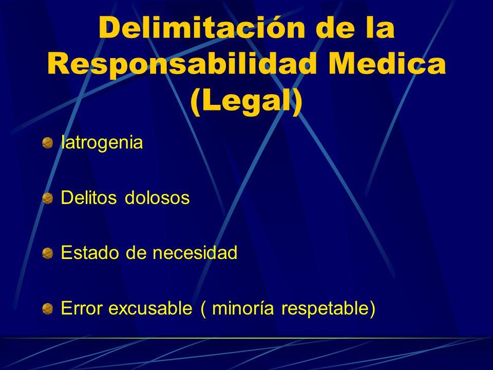 Delimitación de la Responsabilidad Medica (Legal)