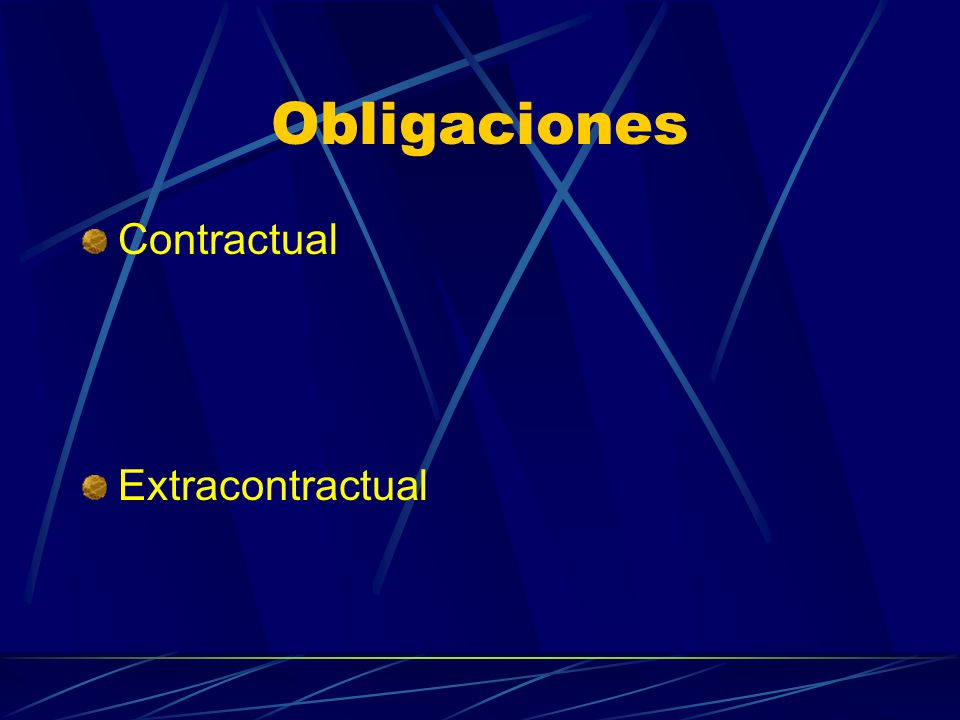 Obligaciones Contractual Extracontractual