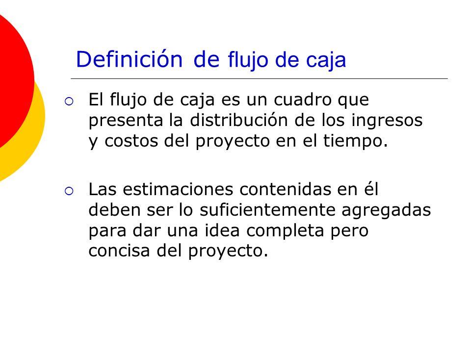 Definición de flujo de caja