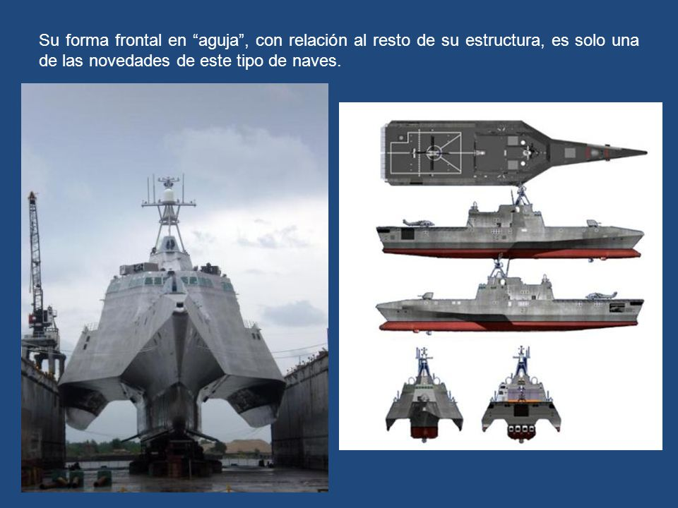 Su forma frontal en aguja , con relación al resto de su estructura, es solo una de las novedades de este tipo de naves.