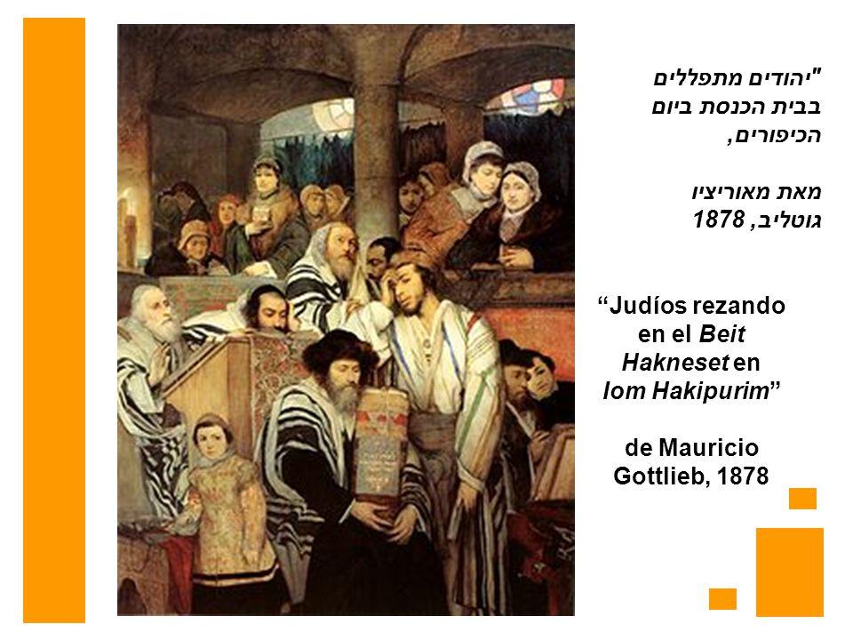 Judíos rezando en el Beit Hakneset en