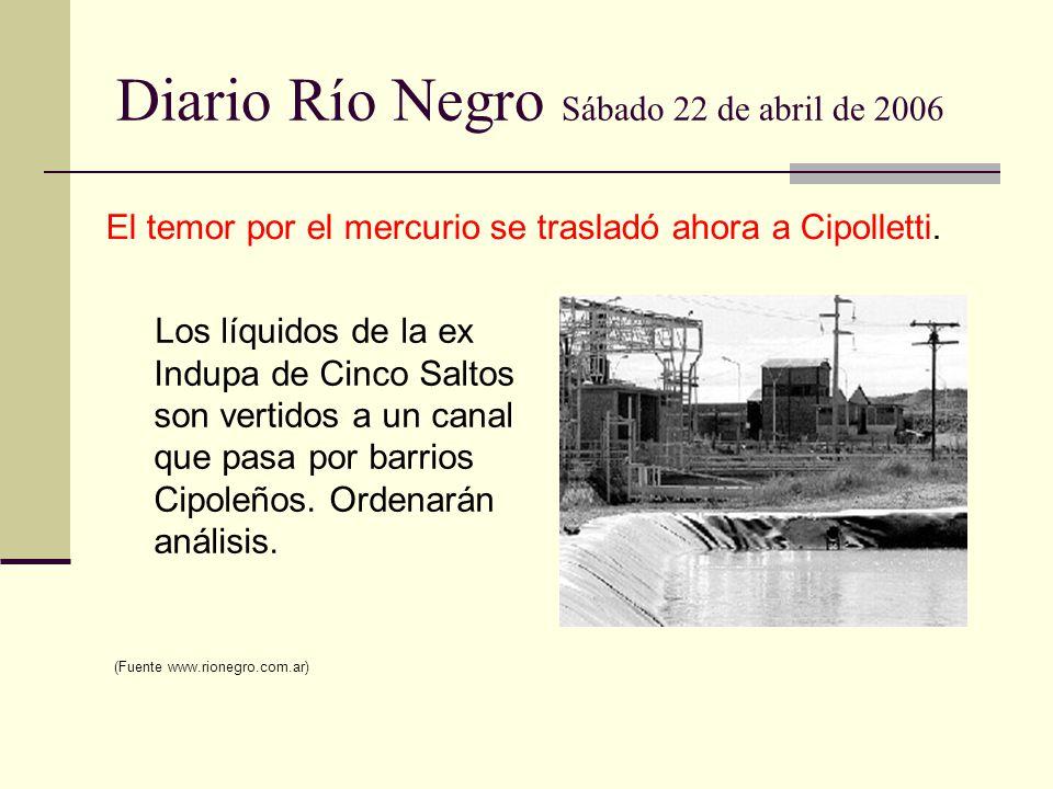 Diario Río Negro Sábado 22 de abril de 2006