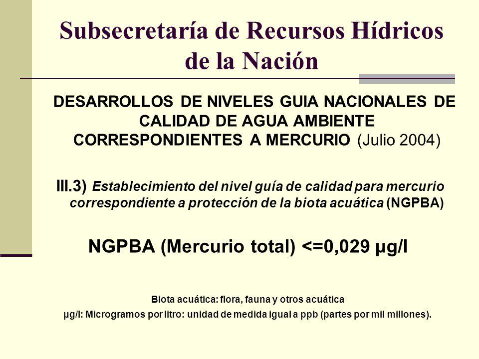 Subsecretaría de Recursos Hídricos de la Nación