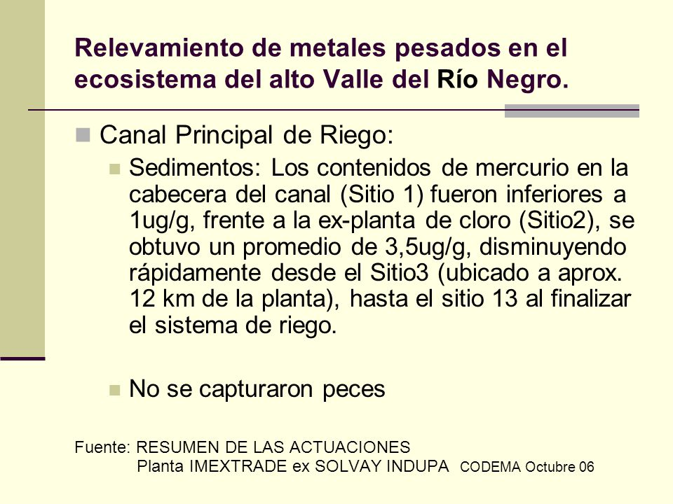 Canal Principal de Riego: