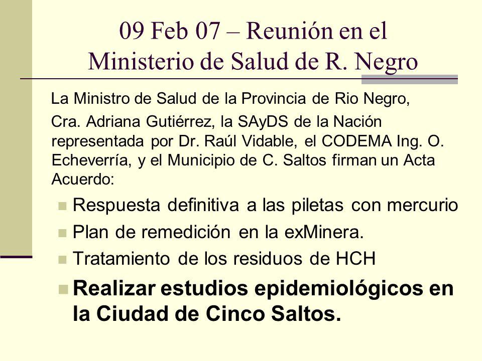 09 Feb 07 – Reunión en el Ministerio de Salud de R. Negro