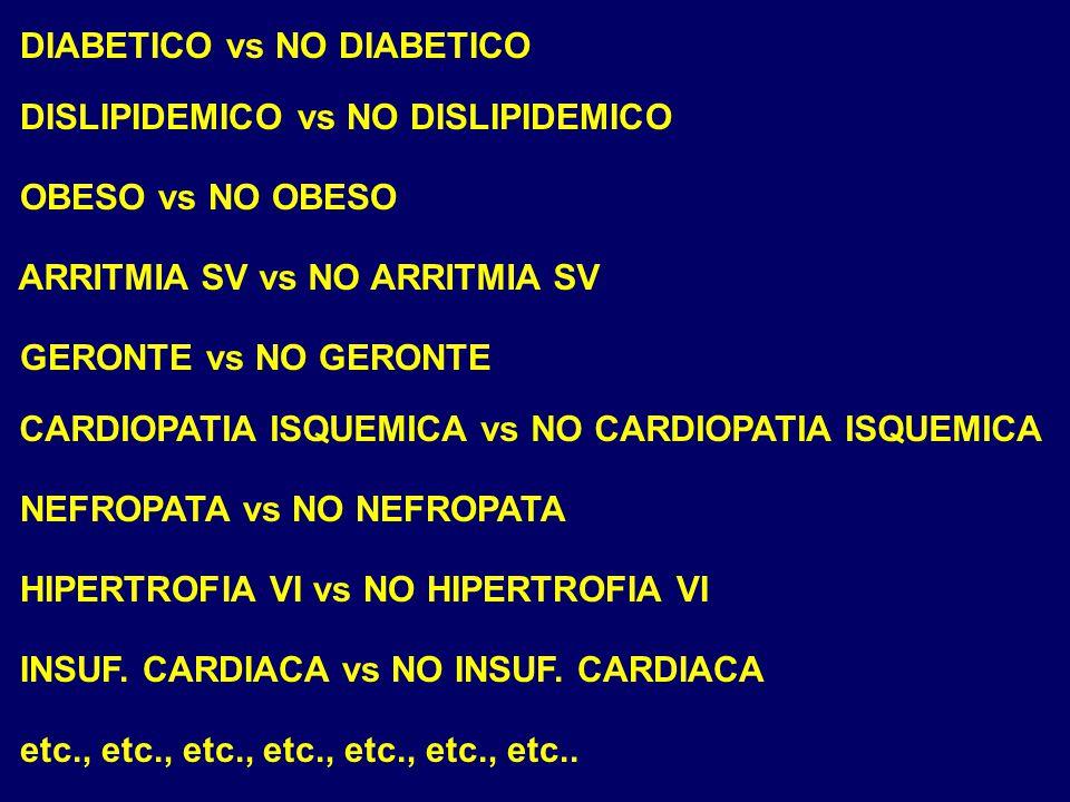 DIABETICO vs NO DIABETICO
