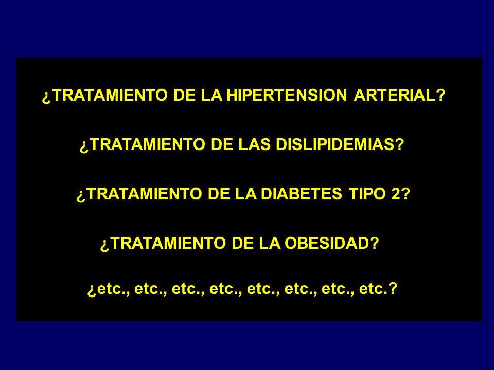 ¿TRATAMIENTO DE LA HIPERTENSION ARTERIAL