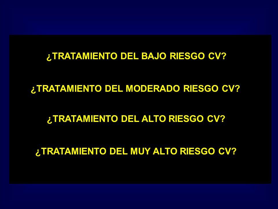 ¿TRATAMIENTO DEL BAJO RIESGO CV