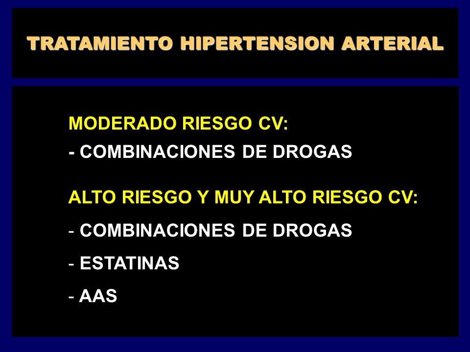 TRATAMIENTO HIPERTENSION ARTERIAL