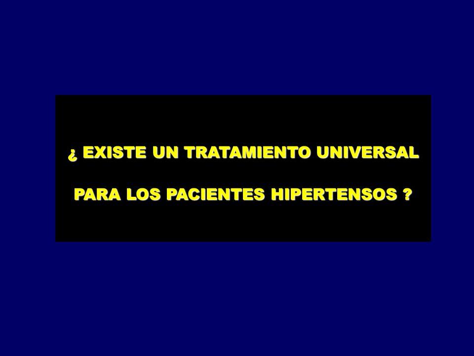 ¿ EXISTE UN TRATAMIENTO UNIVERSAL PARA LOS PACIENTES HIPERTENSOS