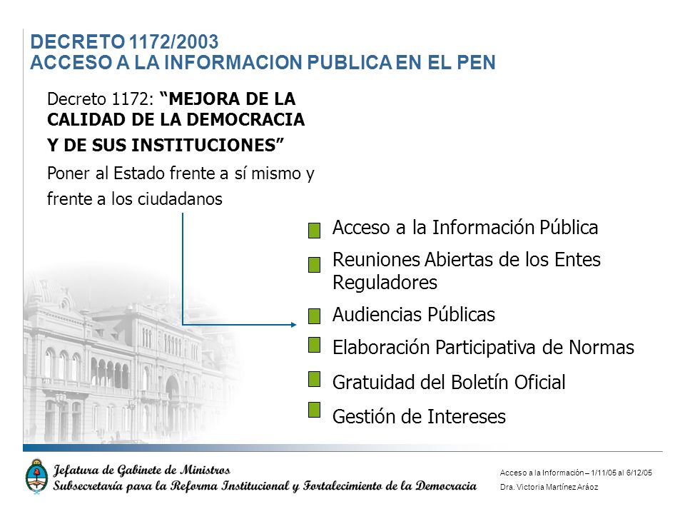 ACCESO A LA INFORMACION PUBLICA EN EL PEN