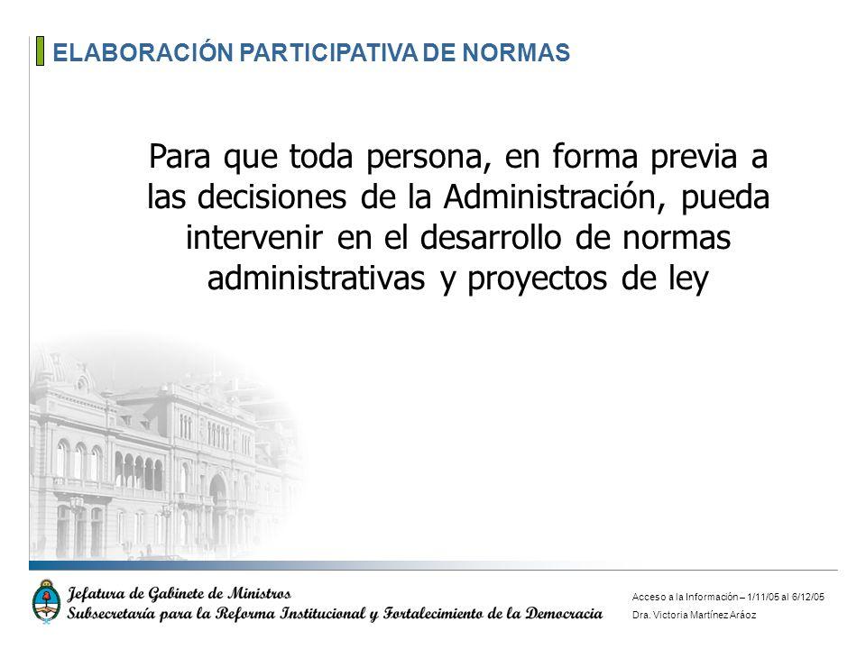ELABORACIÓN PARTICIPATIVA DE NORMAS