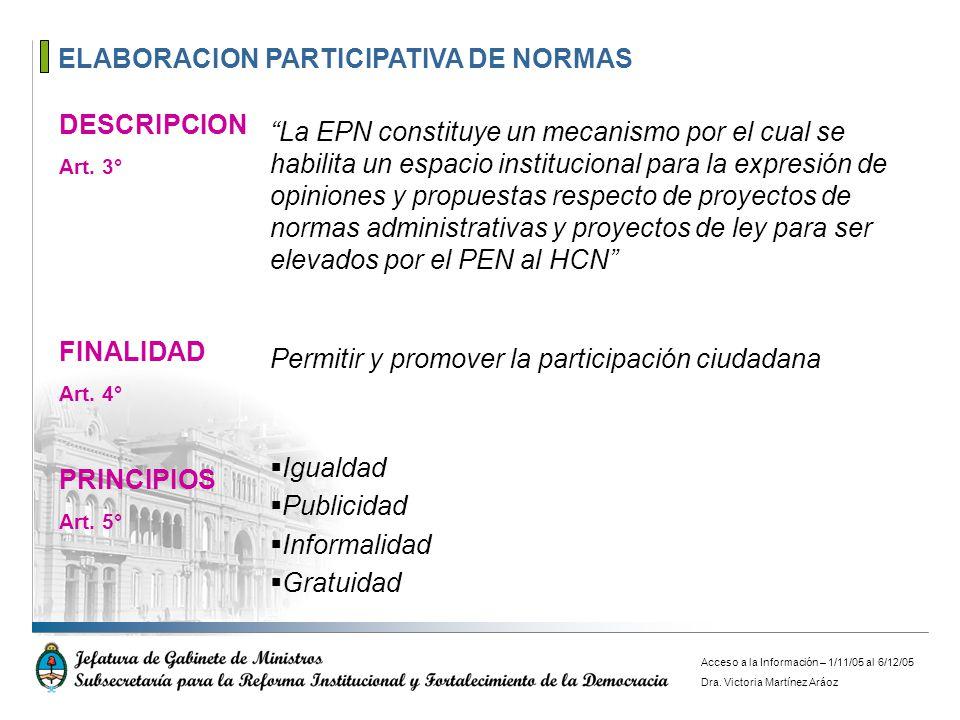 ELABORACION PARTICIPATIVA DE NORMAS