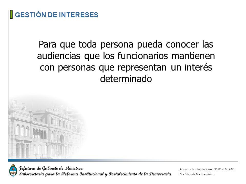 GESTIÓN DE INTERESES