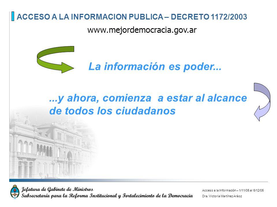 La información es poder...