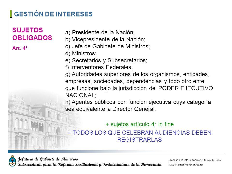 GESTIÓN DE INTERESES SUJETOS OBLIGADOS