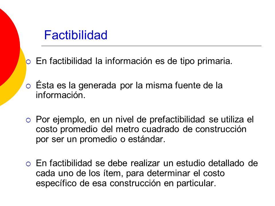 Factibilidad En factibilidad la información es de tipo primaria.