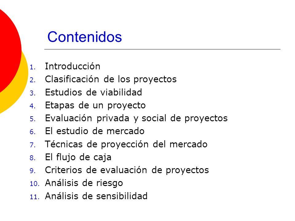 Contenidos Introducción Clasificación de los proyectos