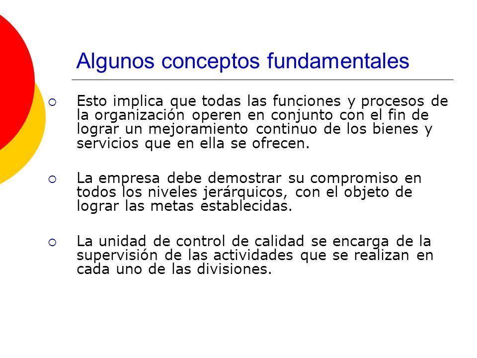 Algunos conceptos fundamentales