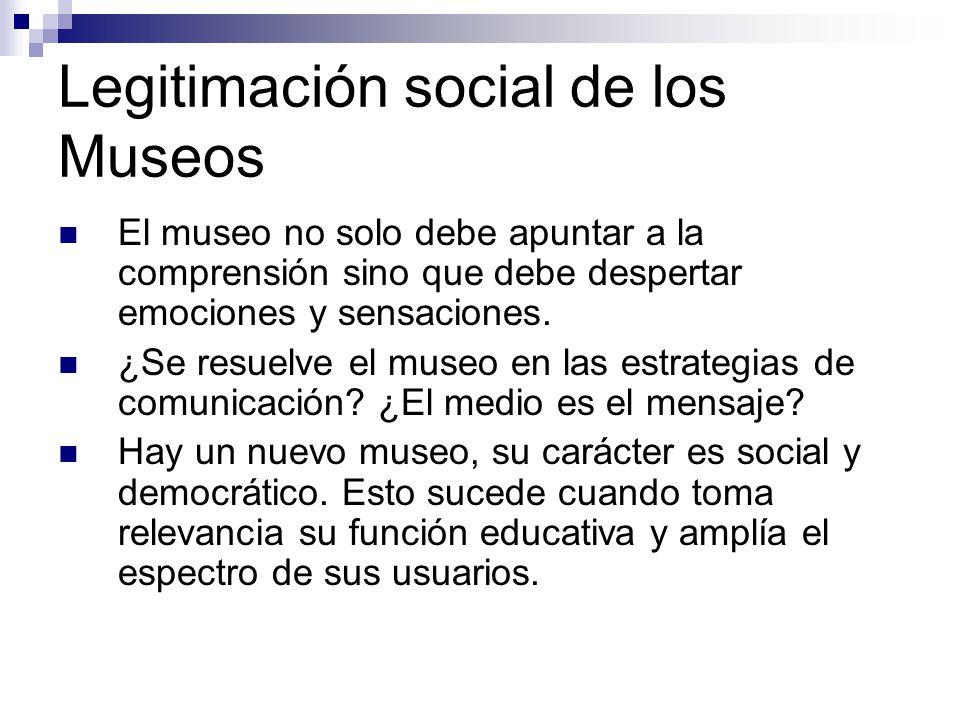 Legitimación social de los Museos
