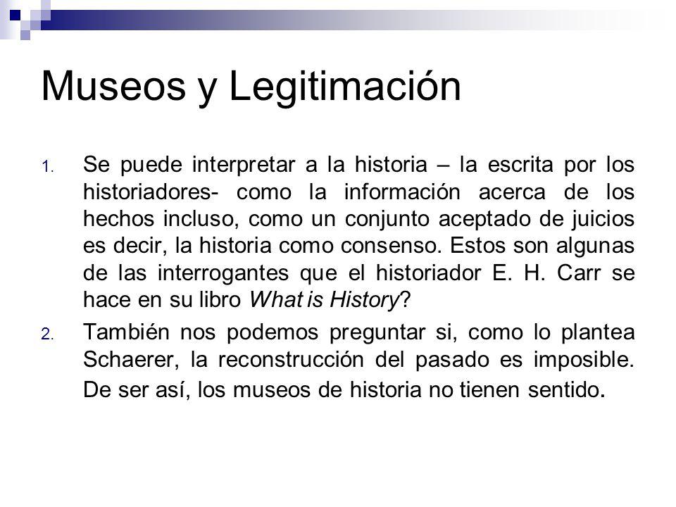 Museos y Legitimación