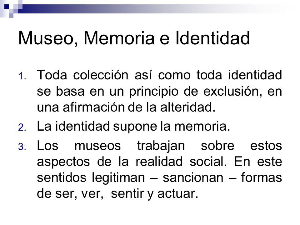 Museo, Memoria e Identidad