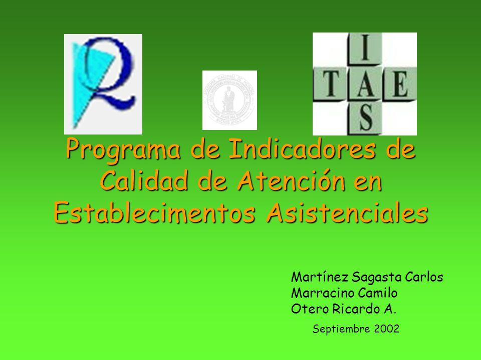 Programa de Indicadores de Calidad de Atención en Establecimentos Asistenciales