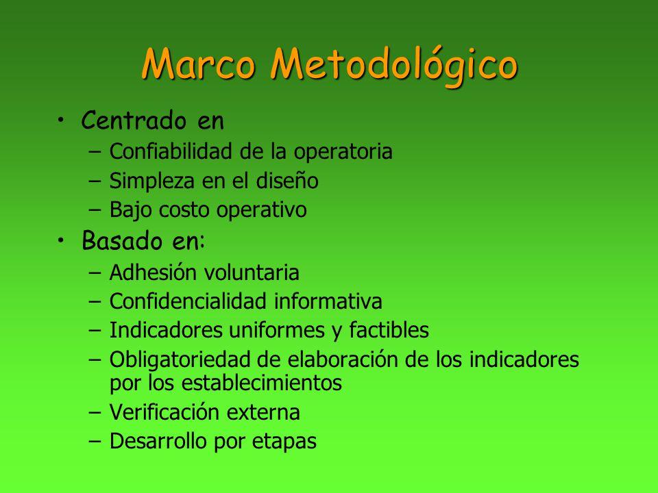 Marco Metodológico Centrado en Basado en: