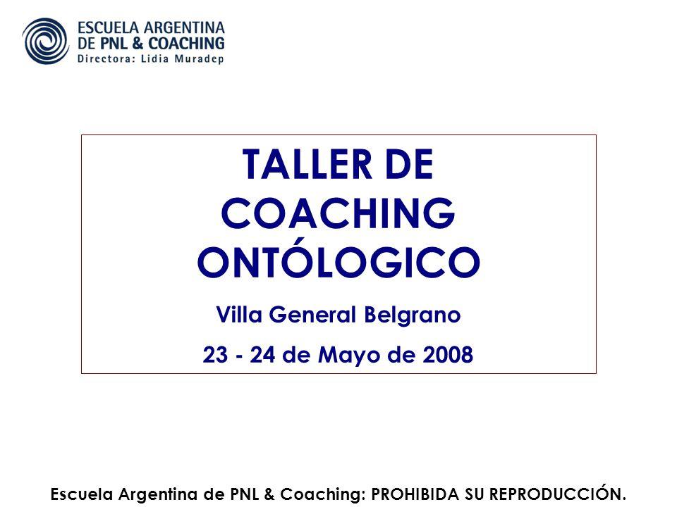 TALLER DE COACHING ONTÓLOGICO