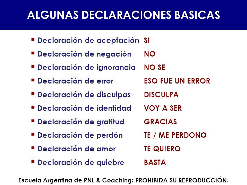 ALGUNAS DECLARACIONES BASICAS