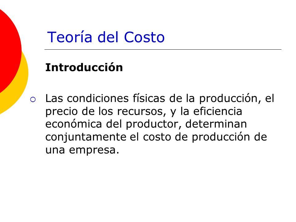 Teoría del Costo Introducción