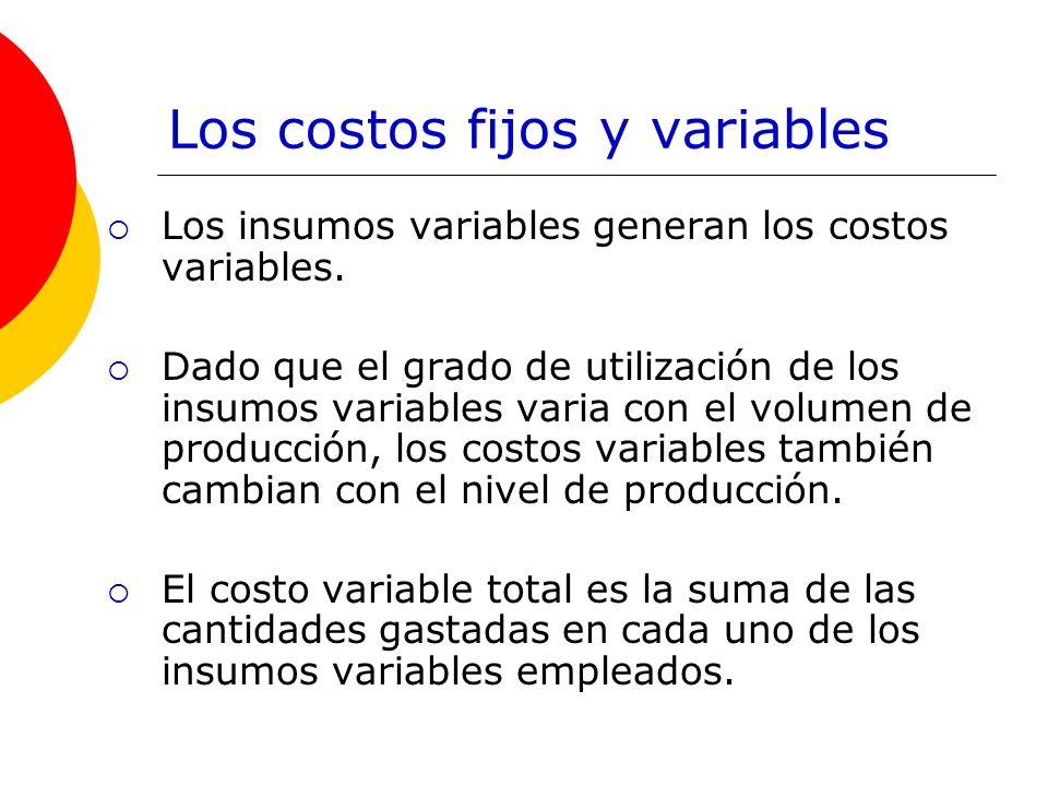 Los costos fijos y variables