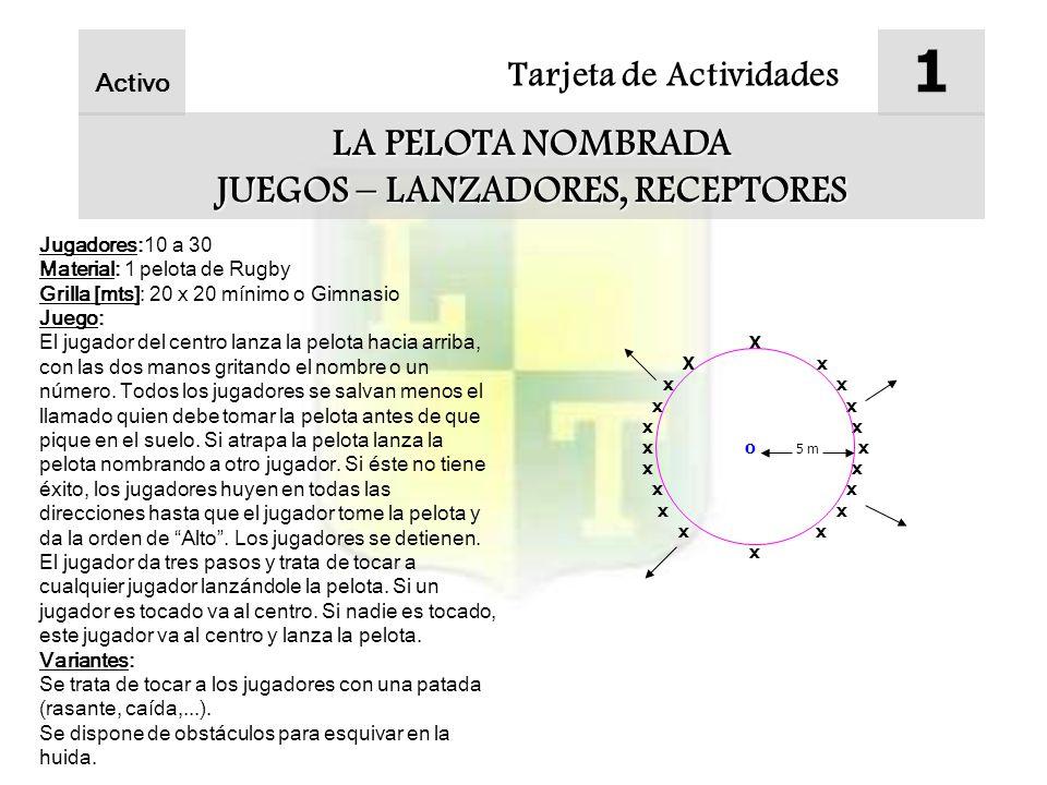 JUEGOS – LANZADORES, RECEPTORES