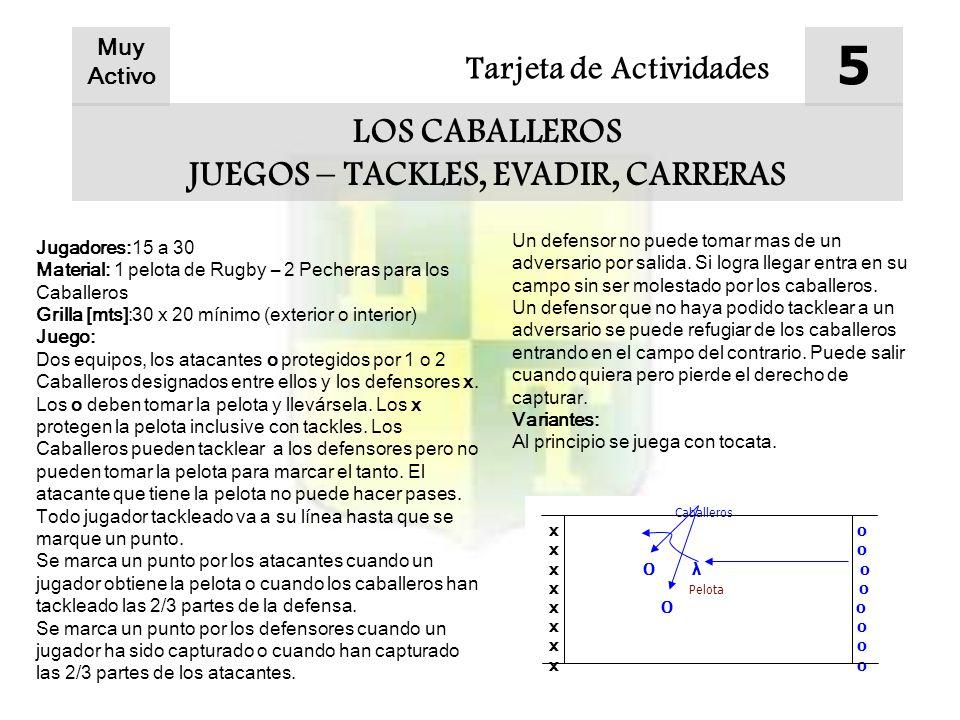 JUEGOS – TACKLES, EVADIR, CARRERAS