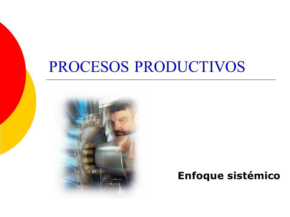 PROCESOS PRODUCTIVOS Enfoque sistémico