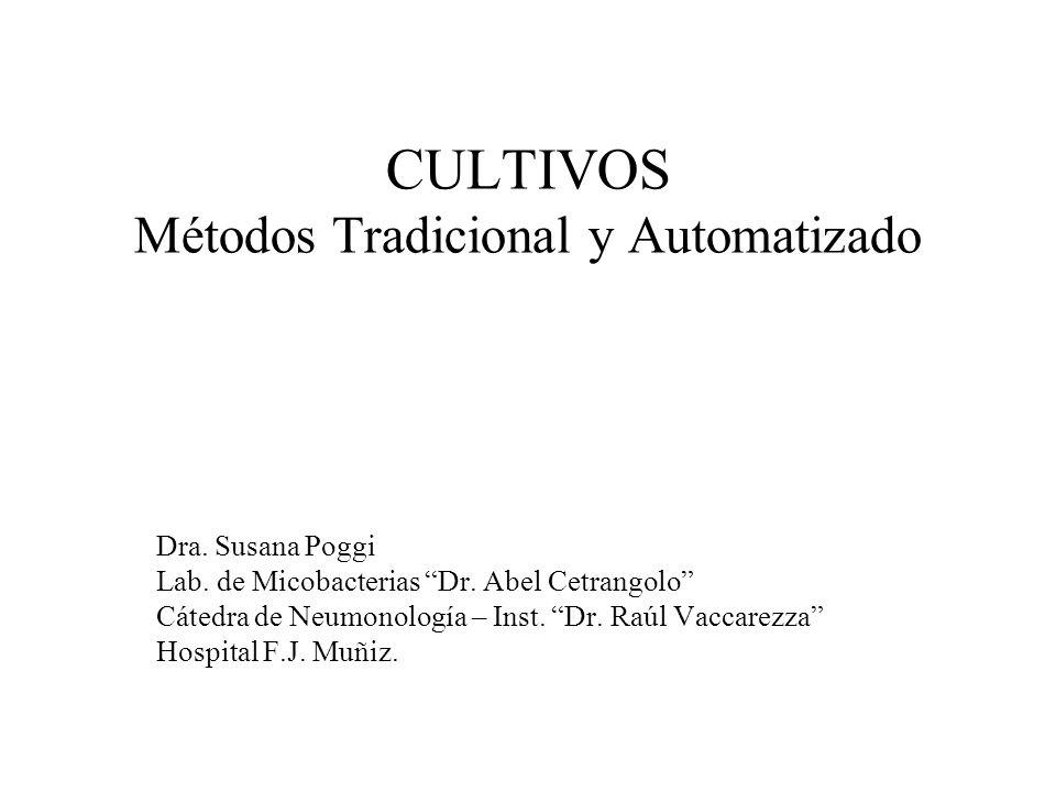 CULTIVOS Métodos Tradicional y Automatizado