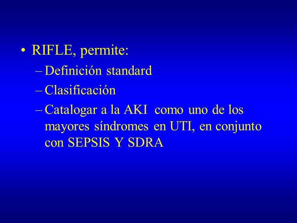 RIFLE, permite: Definición standard Clasificación