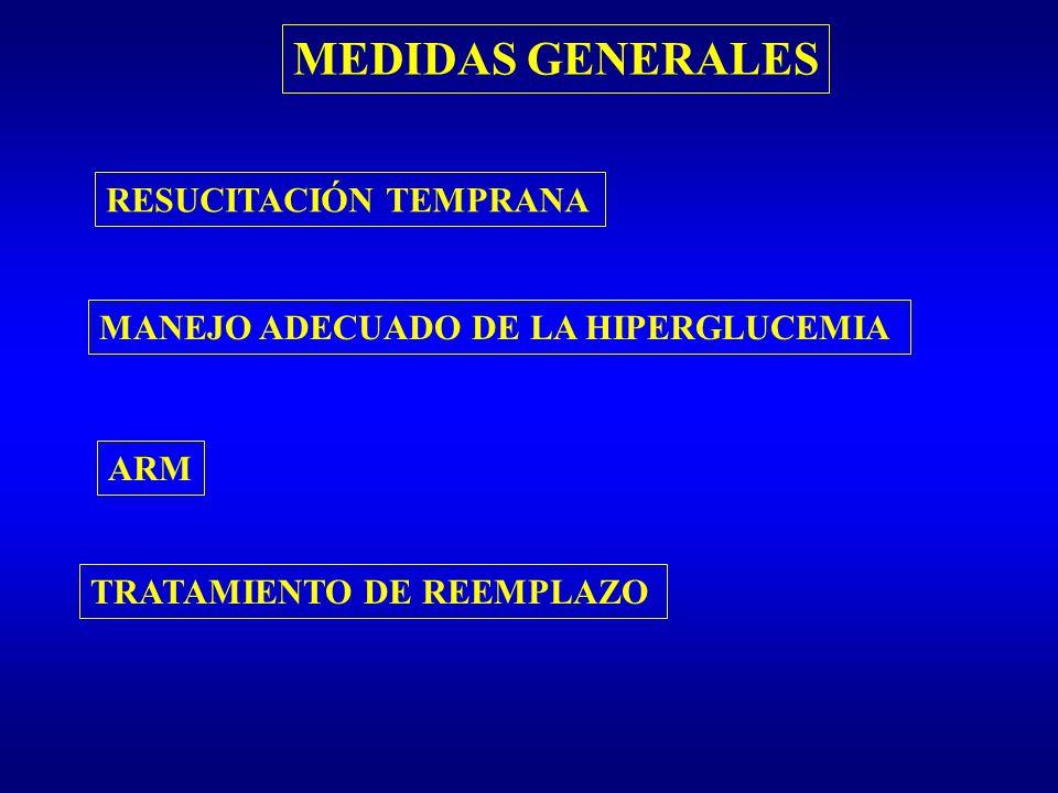 MEDIDAS GENERALES RESUCITACIÓN TEMPRANA