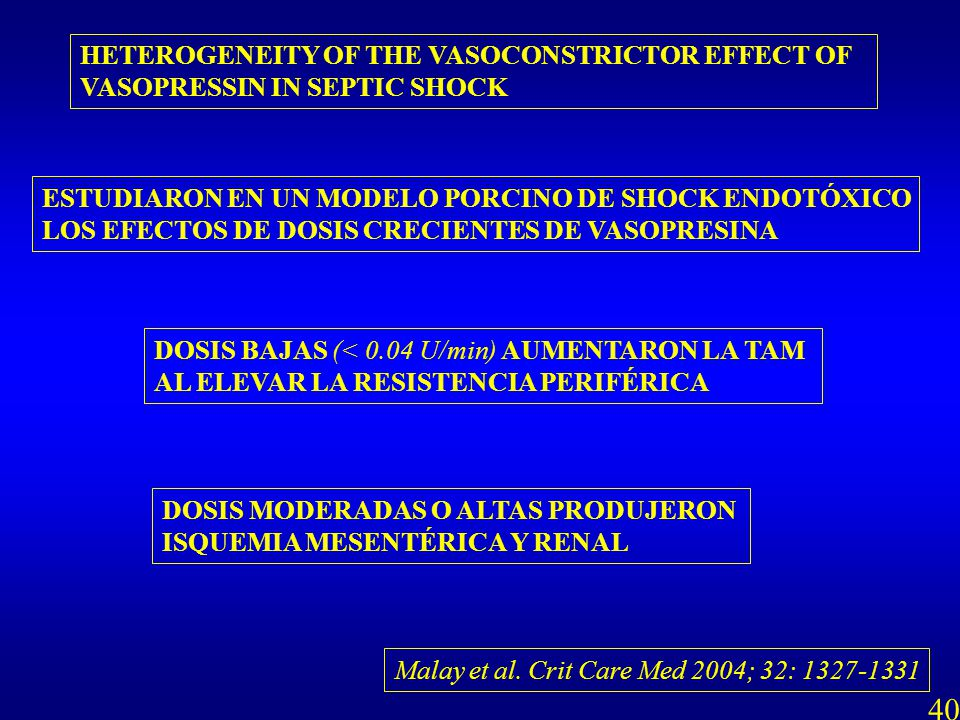 40 HETEROGENEITY OF THE VASOCONSTRICTOR EFFECT OF
