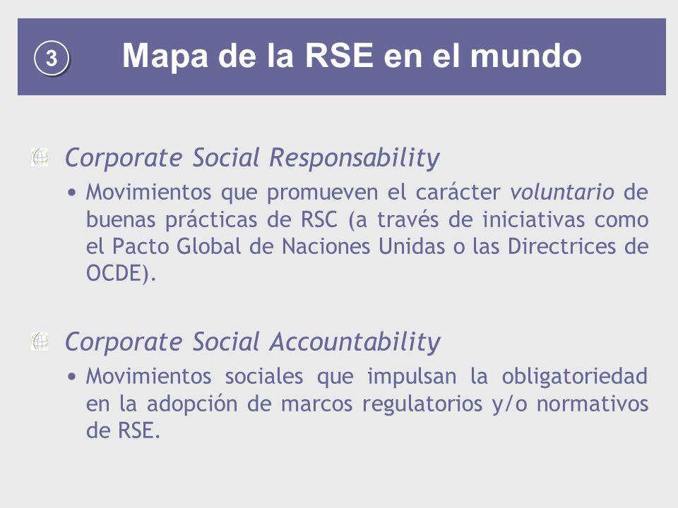 Mapa de la RSE en el mundo