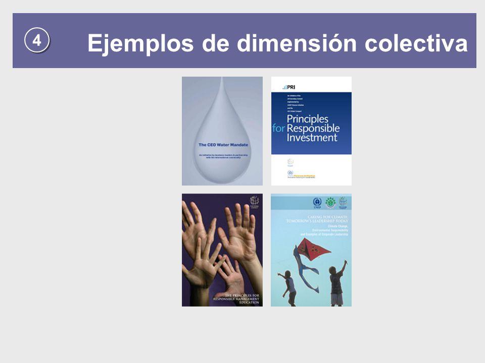 Ejemplos de dimensión colectiva