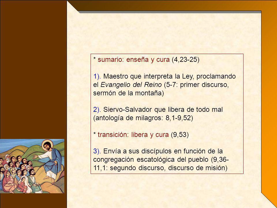 * sumario: enseña y cura (4,23-25)